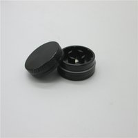 anodized aluminum parts - Top Quality Herb Grinder Custom Anodized Aluminum CNC Small Grinders Herb Tobacco Spice Black Silver Mini Smoking Grinders Parts