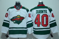Ice Hockey athletic brand names - Men s Wild Devan Dubnyk White Hockey Jersey Brand Minnesota Jersey High Quality Ice Hockey Wear Athletic Jersey Stitched Name and Number