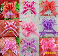 big present bow - EMS Free Gift Packing Pull Bow Ribbons Flower Big CM Wedding Decorative Birthday valentine s Room Ornament Decoration Gift Present WF24