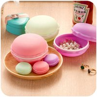 Wholesale candy color macaron storage box Jewelry storage box holder organizer container for sundries birthday gifts p103