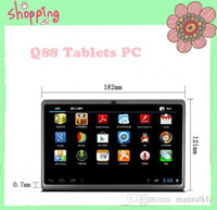 Wholesale Q88 Tablet PC A23 MINI PC Android Bluetooth dual Camera dual core inch tablets android wifi android