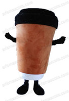advertising coffee cups - AM5228 Adult Suit Coffee Cup mascot costume party dress fur mascot suit advertising mascots
