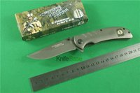 Wholesale Strider folding knife titanium HRC blade steel handle knives camping tools