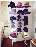 iron shelf bracket - Wrought iron shelf bracket removable cap hat Landing hat rack Hat display floor
