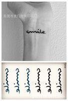 armed smile - Waterproof Temporary Tattoo Body Art Sexy Fake Tattoo Supply waterproof tattoo sticker tattoo sticker factory smile water transfer