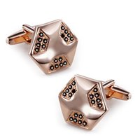 Wholesale Luxury cufflinks high quality crystal cufflinks for mens copper cufflinks with Czech Men s crystal cufflinks