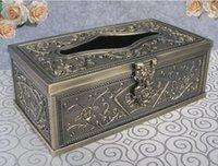 artistic box - very rare artistic metal desk rectangle tissue box extract napkin box case holder napkin holder bronze