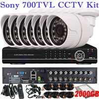 best hard disk brand - Good ir night vision TVL cctv security hd mini camera system best ch D1 HD DVR kit D1 HD with brand TB GB HDD hard disk