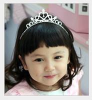 Wholesale 2015 Hot Luxury Sparkling Rhinestone Tiara Girls Jewelry Wedding Flower Girl Crowns Children Girls HeadPieces For Wedding