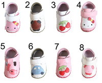 baby crib cherry - Baby Crib Shoes Baby Boy Brand Shoes Zehui Style Baby kids Girls Anti slip Lovely Cherry PU Leather First Walker Infant Toddler Shoes Infant