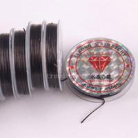 Wholesale 5Rolls x8M Stretch Elastic Beading Cord String black Thread MM