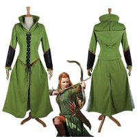 Wholesale Promotion Custom made Anime Movie The Hobbit Desolation of Smaug tauriel Costume Cosplay costume dress for adults women