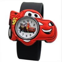 batman watch kids - High Quality Silicone Watch D Cartoon the Cars Slap Watches Children Kids mix colors