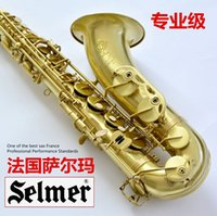Wholesale EMS The French SELMER Salma B flat Alto Sax brushed antique