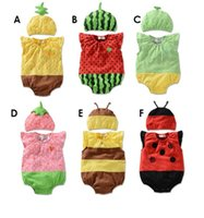 animal shooting - 2016 summer paragraph strawberry Bee Romper baby clothes Neonatal vest jumpsuit climb clothes props shooting G37