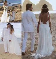 Cheap 2016 New Boho Wedding Dresses A Line Bohemien Sheer Lace Beach Wedding Dresses Backless Sweetheart Bridal Gowns Custom Made