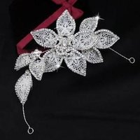 Wholesale Bride Headband Crystal Flower Style High Quality pc B6