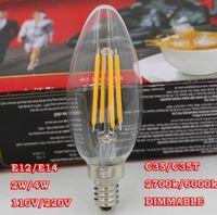 e12 bulb - Dimmable W W W LED Filament Candle Bulb Soft White K E12 E14 Medium Base V VAC