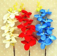 artificial orchid stems - Fashion Hot Artificial Silk Butterfly Orchid Flowers Stem Wedding Party Home Tabletop Desk