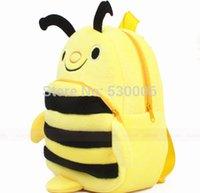 Wholesale Cute Cartoon Yellow Color Bee Baby Girls Boys Mini Soft Plush Backpack Kids Bag Children School Bags mochila infantil