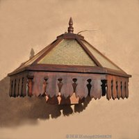 arts and crafts lamp - Thai vintage wood creative restaurant features arts and crafts home decoration garden lamps chandelier hotel supplies