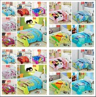 flannel sheets - 2015 flannel blankets color mickey car princess blanket kt pooh stitch minnie doraemon blanket bedding sheet kid blanket TOPB3104