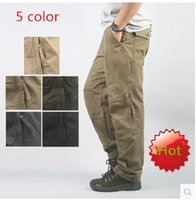 Wholesale Brand New Autumn Men s Outdoors Military Pants Overall Cargo Pants Army Trousers Mens Clothing Hiking Black Yellow Green