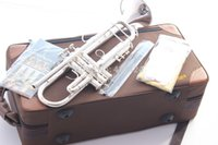 Wholesale Taiwan Bach Original authentic Double silver plated LT180S37 Bb Professional trumpet musical instruments case Mouthpiece Muted