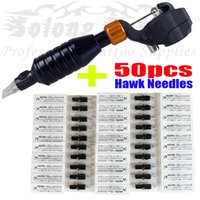 Wholesale Hot sell Hawk Rotary Tattoo Machine Gun Kit Permanent Makeup Pen Black Needles Supply M668C colors Available