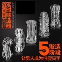 Wholesale Adult Sex toys Sex Beginner Male Bigger Penis Pump Enlarger Erection Enhancer Enlarger Sleeve Sex delay helper Male Masturbators