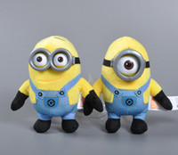 animations videos - 15 cm plastic eye D stereoscopic small yellow people Despicable Me plush toys birthday animation