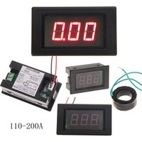 Wholesale High quality A Digital Ammeter AMP Meter With Current Transformer Mutual Inductor with red backlight MTY3