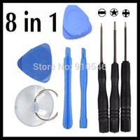 Wholesale 8 in Repair Opening Tools Kit Pry Tool With For Cell Phone Apple iPhone G S G Plus Samsung Galaxy Sets