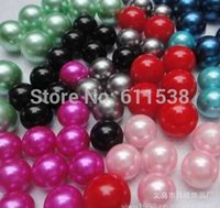 Wholesale 12mm colors pearl perfectly round no hole pearl pearl decoration decorative pearl