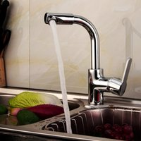 Wholesale Modern Kitchen Accessory Brass Kitchen Faucet Taps One Hole Single Handle Degree Rotatable Sink Mixer Tap with Swivel Spout H15424