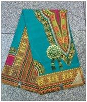 Wholesale Dashiki block prints cotton African farbic super wax hollandais fabric Nigerian ankara style for clothing skirt women dresses