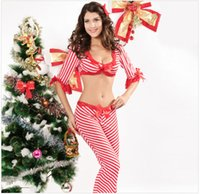 Wholesale Women sexy red stripe pants cosplay women football baby costumes sexy cheerleader costume