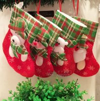 christmas elf - 2015 In Stock Elf Bags Christmas Candy Gift Bag Xmas wedding Party Supplies Top Selling Christmas Decorations Socks Candy Bags