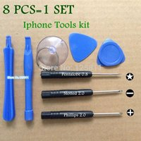 Wholesale 100set New Repair Opening Pry iphone Screwdriver Tools Kit Set Fit for iPhone4 Samsung free shopping DHL Retail bag