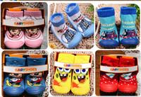 Wholesale 5pairs rubber soles socks cotton anti slip baby socks infant socks non slip baby wear kid s socks