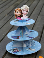 layer cake - 2015 NEW Elsa princess Anna princess Birthday Party Supplies Three layer cake stand