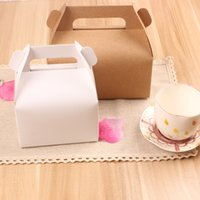 Wholesale Big portable west point box cake box mousse box dessert packing box Cake Kraft Paper Boxes with Handle