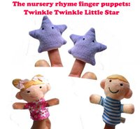 Wholesale Newest Baby Plush Finger puppets Toy Twinkle Twinkle Little Star pieces group