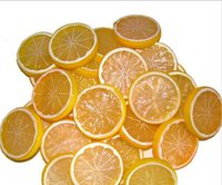 artificial lemon - 2015 New arrival garnish fruit Fake lemon slice artificial food home kitchen decor AE03024
