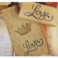 Wholesale 3 disigns DIY Wood Love you Stamps Vintage Wooden Stamp for Scrapbooking Decoration Creative Gift