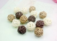 Wholesale 12pcs cm Mixed Colors Woven Wicker Ball Home Decoration
