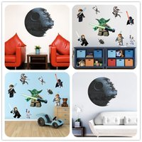 3d movies for sale - Hot Sale D LEGO YODA Star Wars Characters Wall Sticker Cartoon Wallpaper For Home Decal Decorations Kids Room Wall Decal
