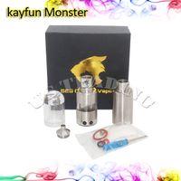 bell pin metal - Kayfun Monster RDA RBA Atomzier Rebuidable Tank mm Diameter Tread Copper Pin with Clear Bell Cap vs Kayfun Taifun GT2