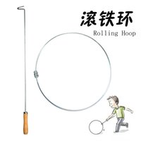 Wholesale New Special Rolling Metal Hoop with Metal Stick Novelty Sport Toys for Childrens and Adults