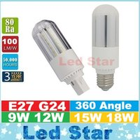 G24 E27 led ampoules de 360 degrés haute puissance 9W 12W 15W 18W SMD 2835 Led maïs Lumières AC 85-265V CE UL CSA